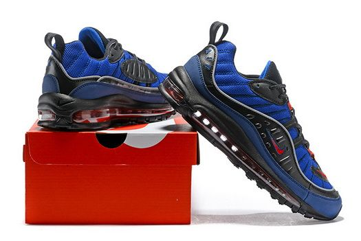 online store 4e761 fbf4b Genuine Nike Air Max Og 98 Gundam Navy Blue Black Red Sport Running Shoe