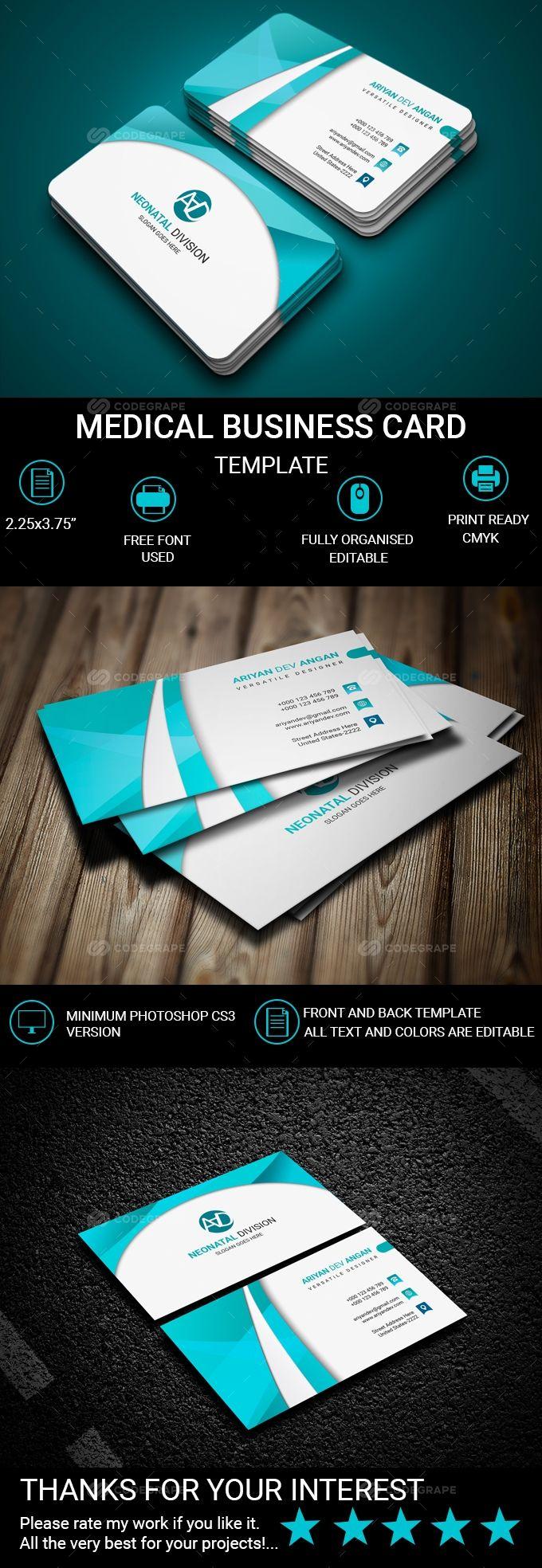Medical Business Card Medical Business Medical Business Card Double Sided Business Cards