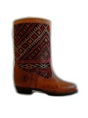 Atlas brown - handmade leather and kilim