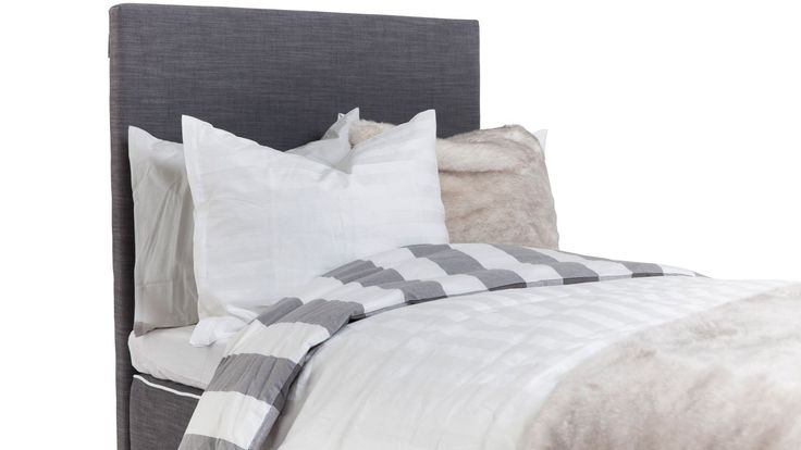 Grå slät sänggavel. Säng, gavel, sovrum. http://sweef.se/sangar/170-kontinentalsang-premium-180x200cm.html