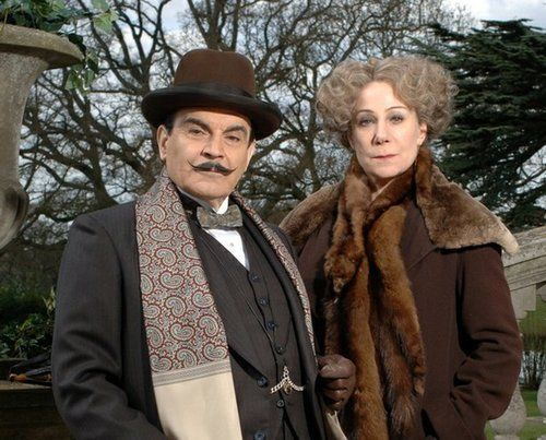 """vasar-tastine: """" Untitled on We Heart It. """" Hercule Poirot, biggest out of detectives & Ariadne Oliver, biggest out of crime story writers! A marvellous pairing!"""
