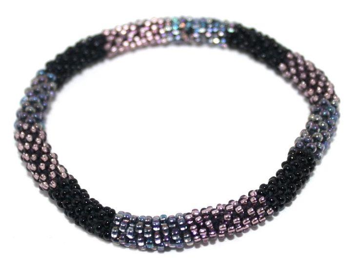 Nepal Bracelet, Roll On Bracelet, Glass bead bracelet, Tribal bracelet, Boho Bracelet Madness Seed Beads