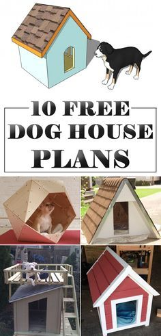 Totally free dog house plans that you can easily build for your dog.