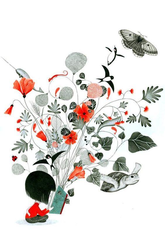 Cómo pueden caber tantas cosas en los libros? Ábrelos y compruébalo! (ilustración de Alessandra Manfredi)