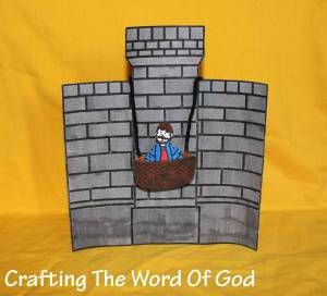 Acts 8:1-3; 9:1-3; Paul's Conversion & Baptism-Paul Lowered In A Basket Craft