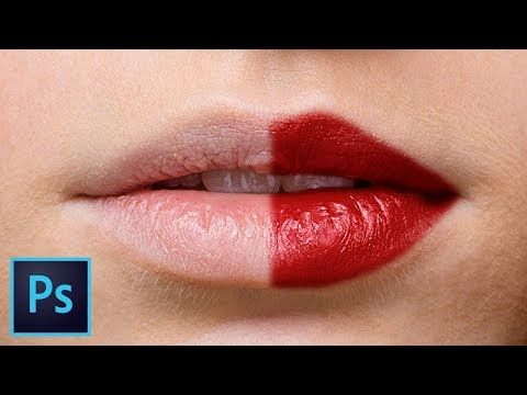 Create Highly Realistic Lipstick in Photoshop - YouTube