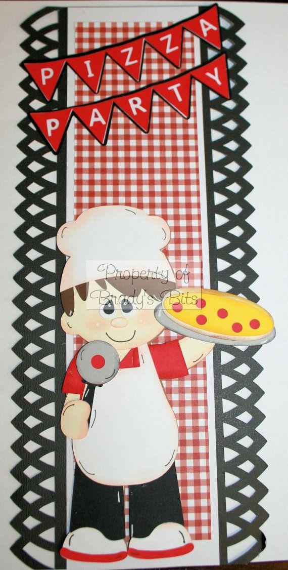 Pizza Party 12 x 5 Premade Scrapbook Border via Etsy