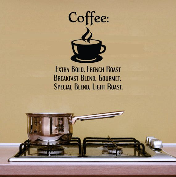 Kitchen Decor Quotes: Coffee Wall Quotes. Coffee Extra Bold CODE Kitchen Wall