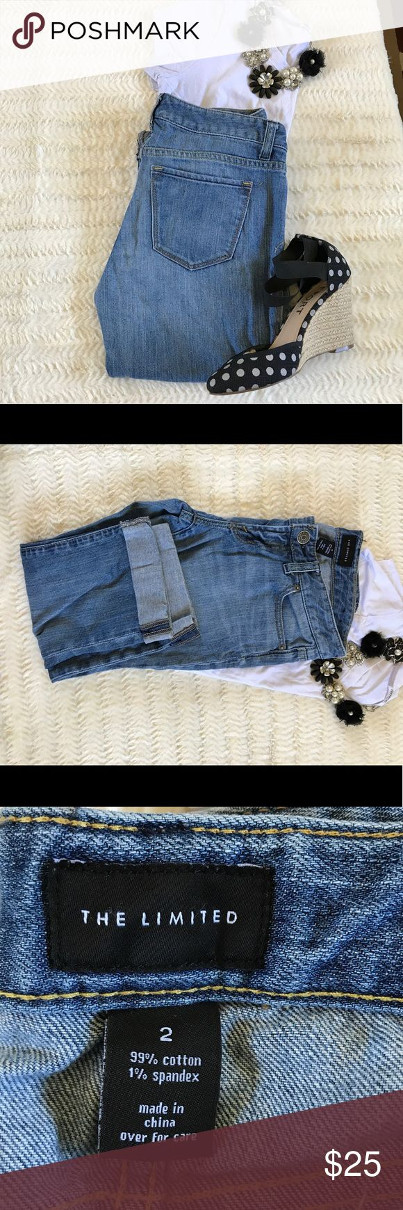 T1 Hot trend! The Limited Capri shorts Bermuda Season's hottest trend! The Limited denim Capri shorts in really good condition, there is a small stain on the right thigh very unnoticeable, please look at the last picture. The Limited Shorts