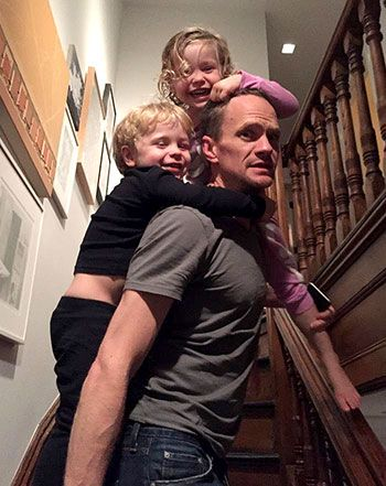 Neil Patrick Harris posted an adorable photo with his kids after wrapping his book tour.