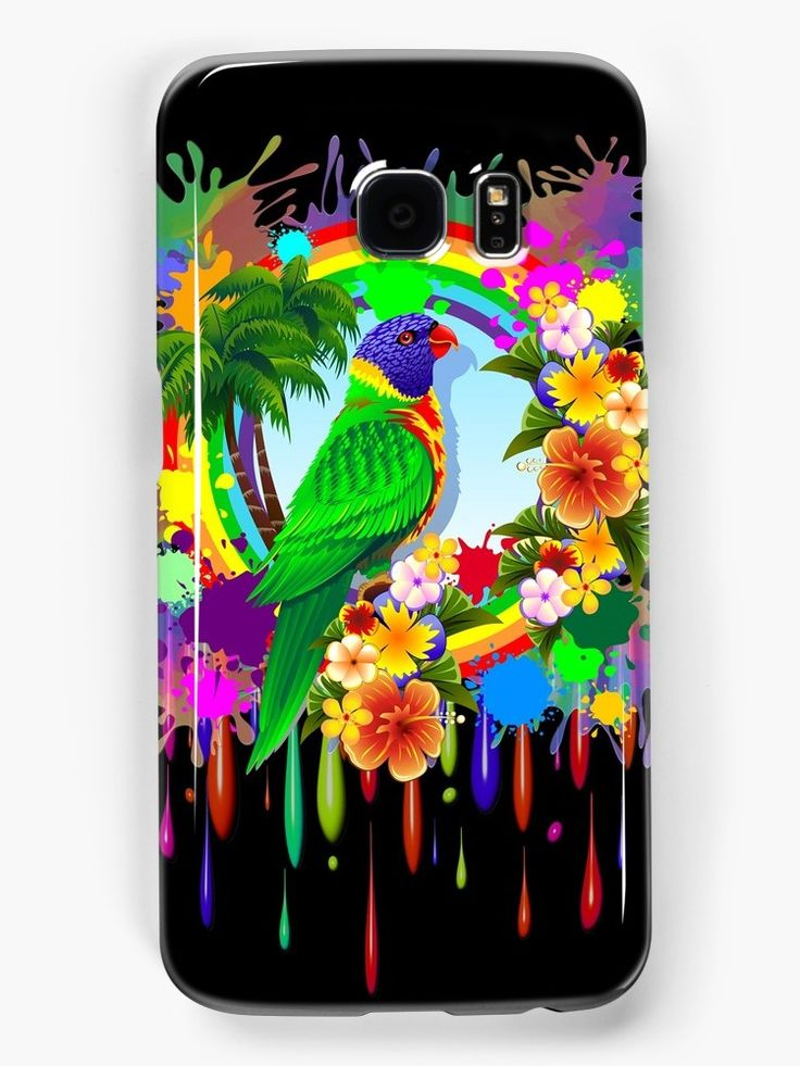 SOLD! #Rainbow #Lorikeet & #Pink #Owl #Samsung #Galaxy #Cases - #Designs by #BluedarkArt     25% off #iPhone #cases, #Samsung #cases, and #iPhone #wallets. Use code PHONE25     https://www.redbubble.com/people/bluedarkart/shop/device-cases?accordion=department&ref=artist_shop_department_refinement&asc=u     @Redbubble