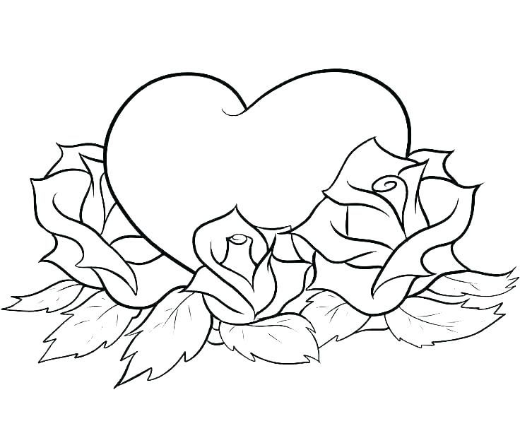 Heart Coloring Pages Printable Rose Coloring Pages Love Coloring Pages Heart Coloring Pages