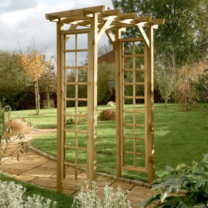 ... Arches / Large Wooden Ultima Pergola Garden Arch by Forest Garden