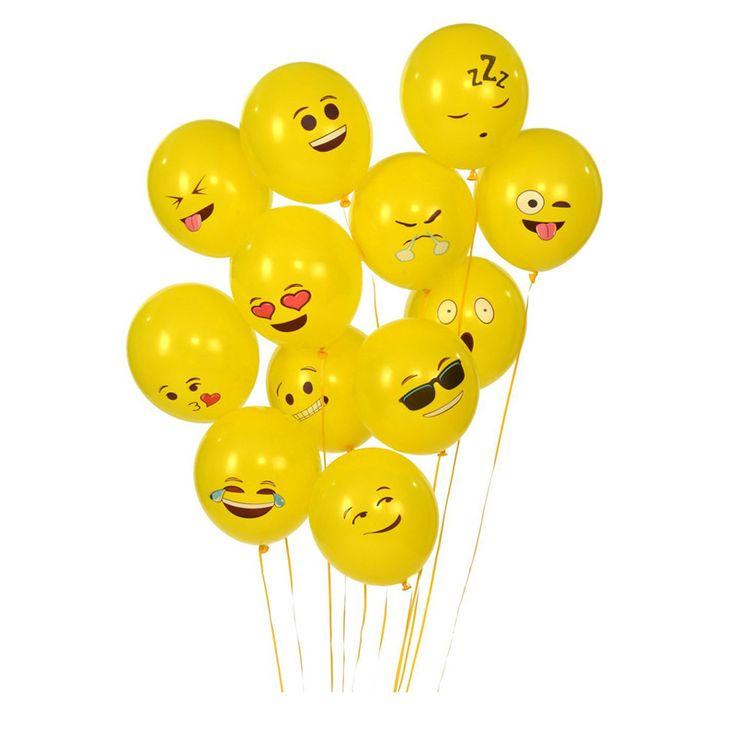 """100ピース/ロット12 """"絵文字風船スマイリーフェイス発現黄色ラテックス風船パーティー結婚式バルーン漫画インフレータブルボール"""