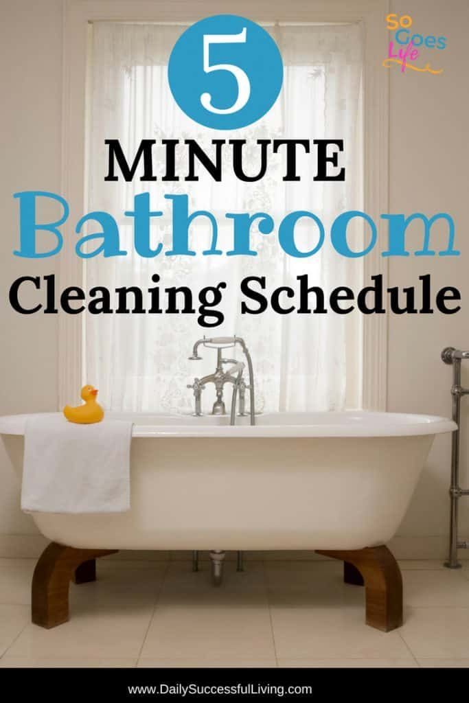 5 Minute Daily Bathroom Cleaning Schedule Bathroom Cleaning Schedule Bathroom Cleaning Cleaning Schedule