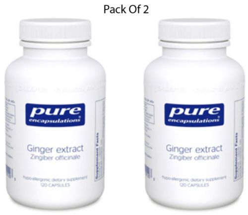 Pure-Encapsulations-Ginger-extract-Zingiber-offc-120-VCaps-2-PACK-Exp-2-18-SD