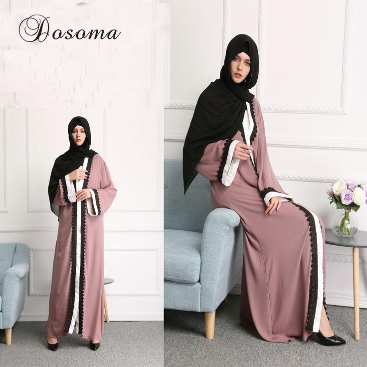 Muslim Abaya Dress Linen Lace Cardigan Robe Burka Fashion Elegant Turkish Instant Hijab Vestidos Kaftan Islamic Prayer Clothing #Affiliate