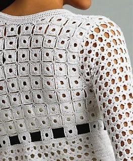 TEJIDOS CROCHET: Crochet Punto, Crochet Ideas, Crochet Squares, Crochet Fabrics, Crochet Fabric, Crochet Tops, Crochet Knits, Crochet Charts, Crochet Clothing