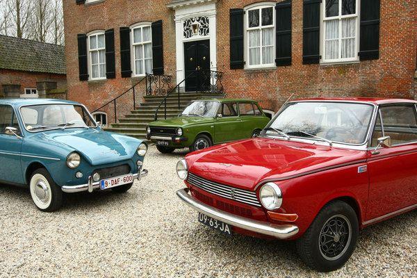 Daf family picture : Daf 600 (1961), 55 Coupé (1968), 66 Van (1975) #dutch