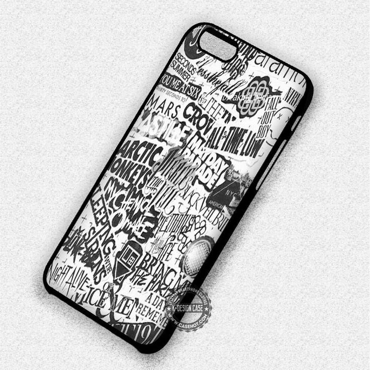 Collage Band's Logo - iPhone 8  7 6s SE Cases & Covers #music #bandcollage #iphonecase #phonecase #phonecover #iphone7case #iphone7 #iphone6case #iphone6 #iphone5 #iphone5case #iphone4 #iphone4case #iphone8case #iphoneXcase #iphone8plus