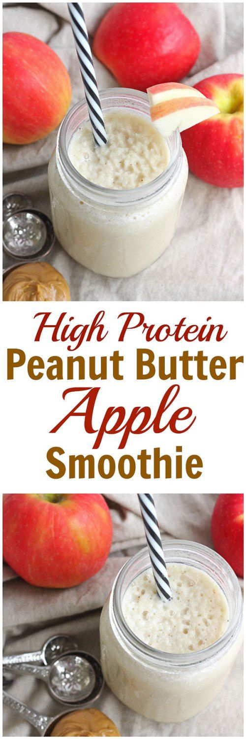 Peanut Butter Apple Smoothie - The favorite snack combination comes together in this Peanut Butter Apple Smoothie! Full of protein to keep you fuller longer, this smoothie is gluten-free, grain-free and dairy-free.