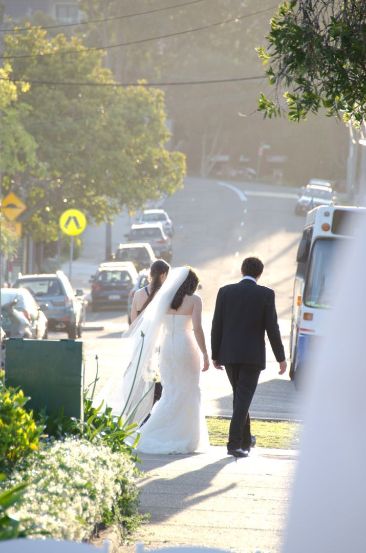 A casual stroll to your wedding at Balmoral beach in Sydney