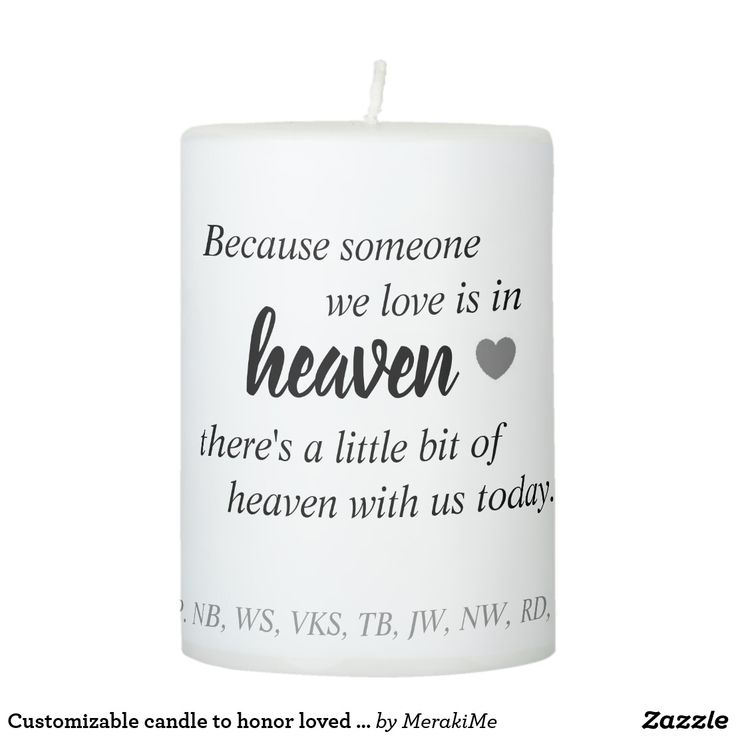 Customizable candle to honor loved ones who have passed at wedding ceremony  #wedding #honoringlovedone #ceremony #candle #marriage #musthave #weddingidea