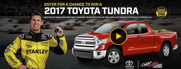 Win a 2017 Toyota Tundra on Stanley Tools - Build Your Tundra Sweepstakes