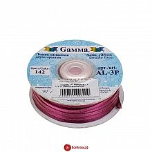 Лента атласная 03мм*91,4м, цвет №142 светло-фиолетовый