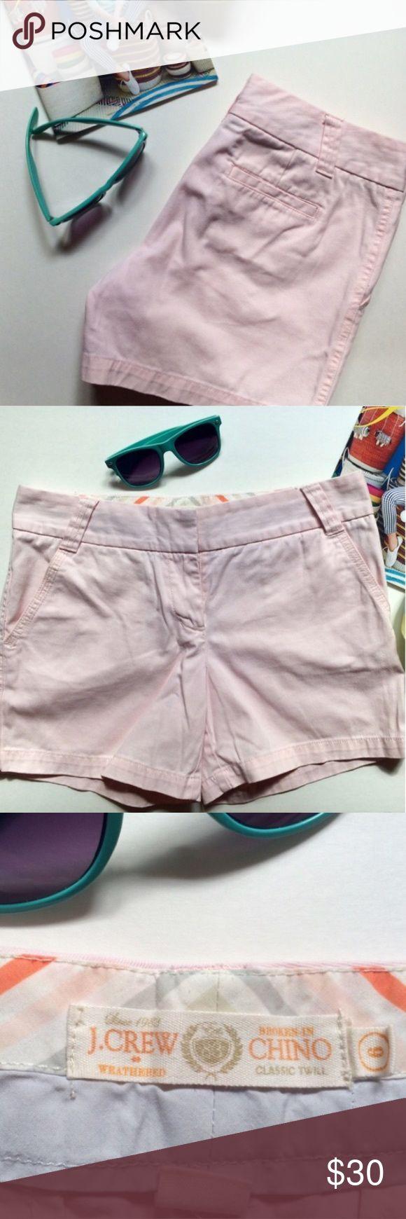 "J. Crew 5"" Broken-In Classic Chino Shorts J. Crew Broken-In Classic Chino Shorts • Size 6 • 5"" inseam • Pale Pink • J. Crew Shorts"