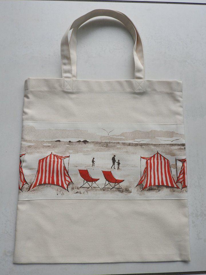 """DIY : Tote bag réalisé avec le tissu made in Morlaix, en vente à la boutique """"Aux Étoffes Morlaisiennes"""""""