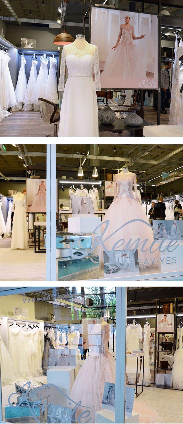 Stand fieristico di @kemilesposa, un progetto #effADV - @kemilesposa #boothdesign, effADV project #stand #booth #weddingdress #bridal #madeinitaly #italianstyle