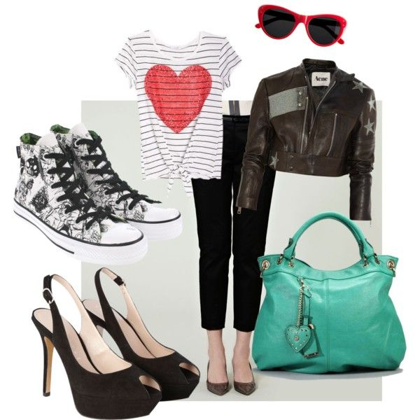 Black and White, created by steenta on Polyvore