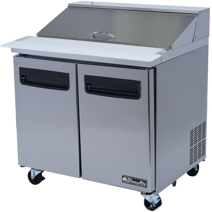 """Commercial Stainless Steel Sandwich Prep Table Refrigerator (36"""" x 30"""")"""