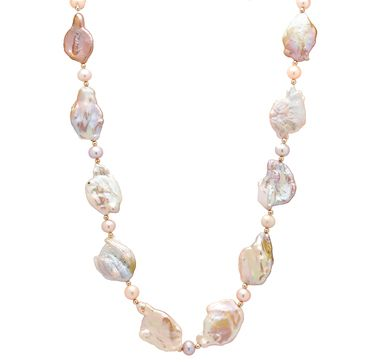 14K Yellow Gold Large Freshwater Pearl Coin Shape Necklace $799.99 at #theshoppingchannel.com