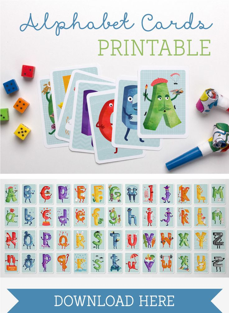 FREE printable alphabet letter cards for kids | Tinyme