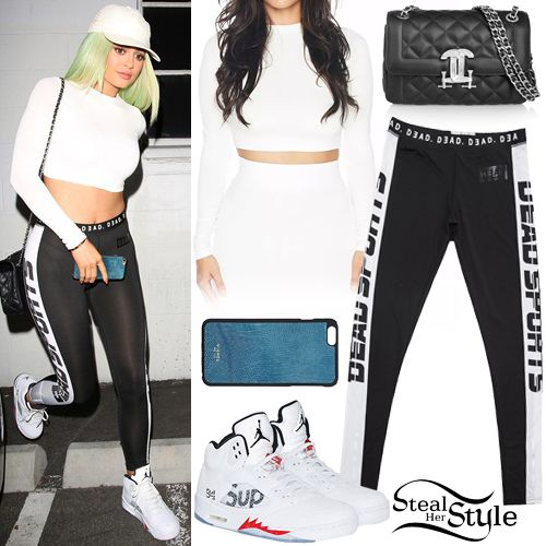 Kylie Jenner was spotted leaving a studio in Studio City ...