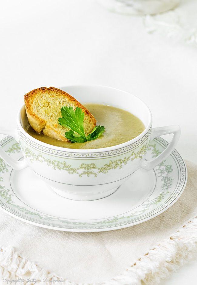 Лук-порей суп, лук-порей, сливки суп, багет, овощной суп, вкусный ужин, Джастин Pankowska, Польский Дом Кухня,