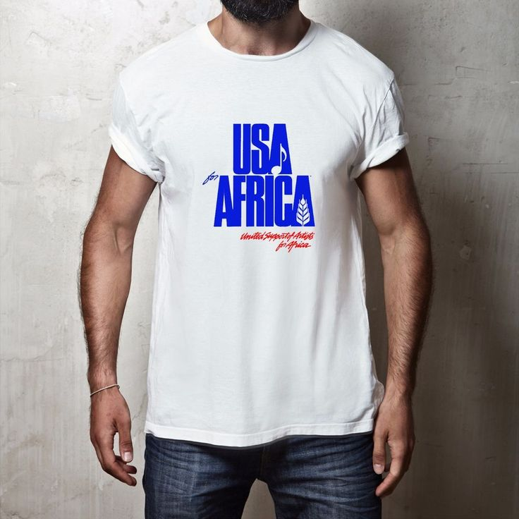 New We Are the World Anniversary USA for Africa United Artists T-shirt #GildanorOther #GraphicTee