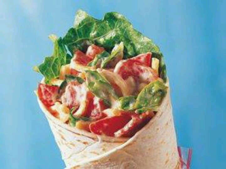 BLT Wrap | soft food recipes | Pinterest