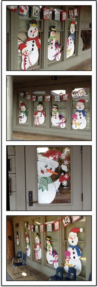 Snowman Music Door Decorations /   An easy idea for adding a festive touch to…
