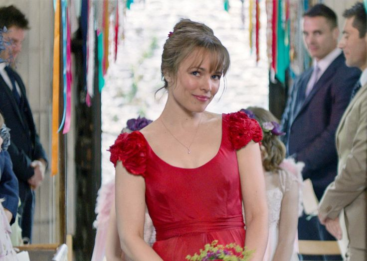 red wedding dress. The beautiful Mary (Rachel McAdams) in About Time.