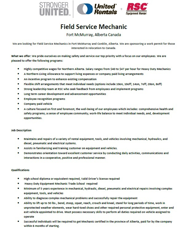 39 best Jobs in Canada images on Pinterest Canada, Infographic - heavy diesel mechanic sample resume