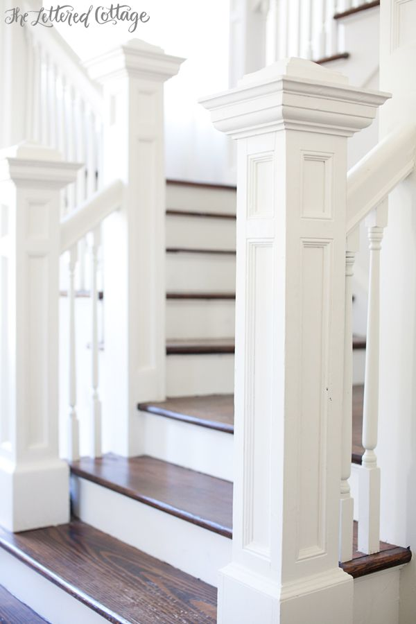 Wooden stair treads.