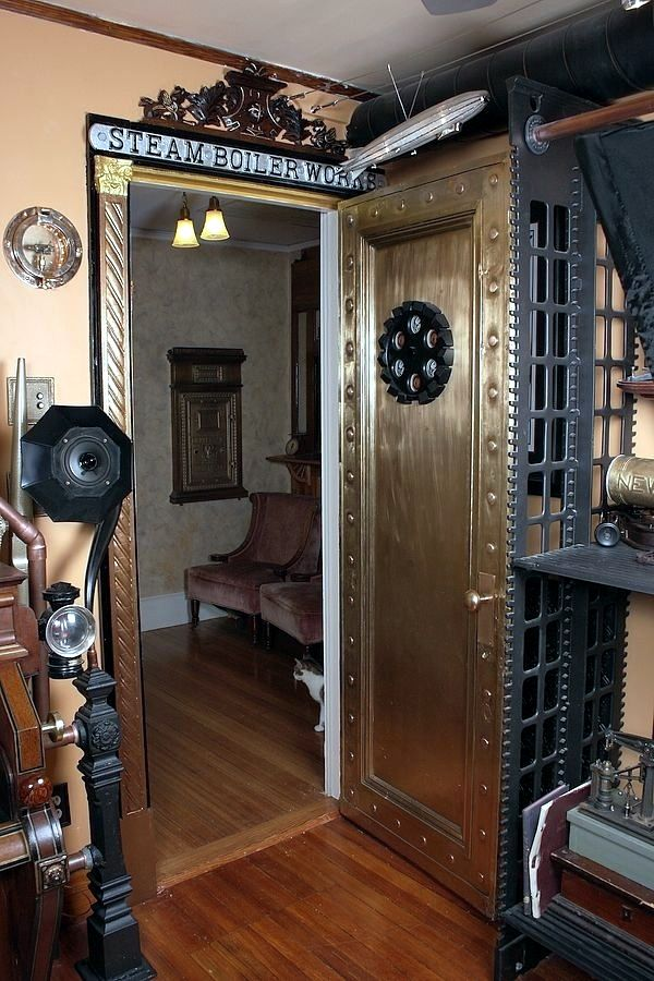 Modern interior design and exquisite decoration steampunk style