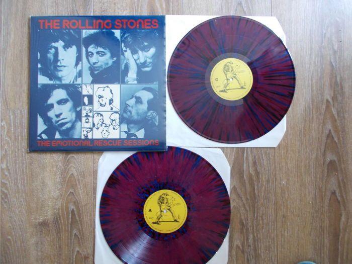 """The Rolling Stones dubbel Lp: De Emotional Rescue sessies gekleurd Vinyl onofficiële Releaes  The Rolling StonesDubbele LpDe sessies van Emotional RescueZeldzame editie gekleurd VinylMint Condition Recordq en mouwGeluidskwaliteit Ex 10/10Opgenomen In 1979 bij Pathé ' Marconi Studio Frankrijk: behalve """"Te raken"""" """"I Love dames"""" & """"München Reggae"""" opgenomen Musicland Studio München West-Duitsland 1975  EUR 35.00  Meer informatie"""