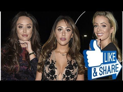 Three's a crowd! Geordie Shore's Charlotte Crosby and Sophie Kasaei party the night away in NYE bas