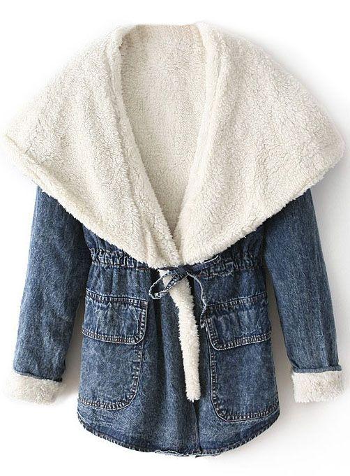 Veste en jean coulissé avec capuchon  EUR€36.29