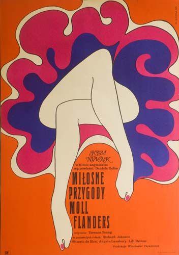 [Moll Flanders Movie Poster (English film) 1969]  WIKTOR GORKA (1922-2004)  Contexto: Años 60s 70s ÉPOCA DORADA de la escuela del cartel polaco.  Su estilo:  _Dibujo y pintura Relación con el mundo del cine y teatro polaco.