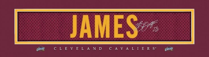 LeBron James Cleveland Cavaliers Player Signature Stitched Jersey Framed Print